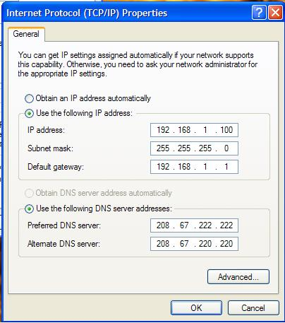 DNS Setting di TCP IP Properties