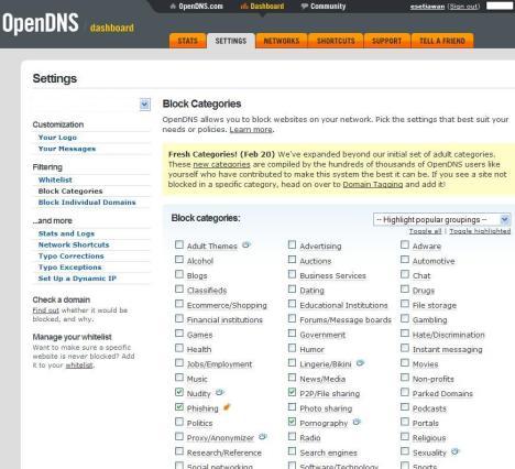 Klik kategori yang ingin di filter