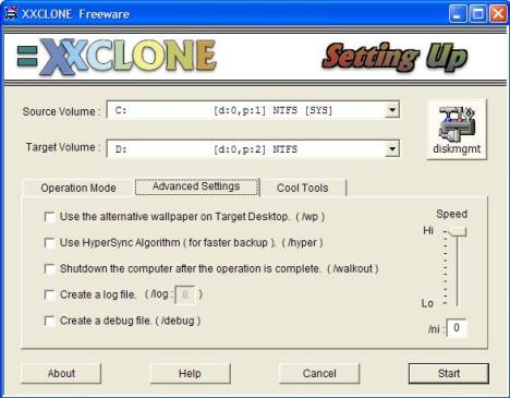 XXClone Advanced Settings
