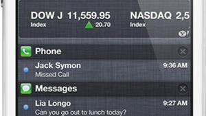 Notifications Center pada iOS 5, 2011
