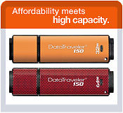 DT150/32GB  32GB* USB flash drive (2.0) - Orange DT150/64GB  64GB* USB flash drive (2.0) - Merah & Hitam