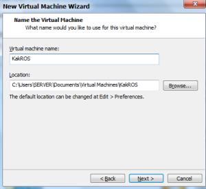 Masukkan nama dan lokasi VM sesuai selera, lalu NEXT